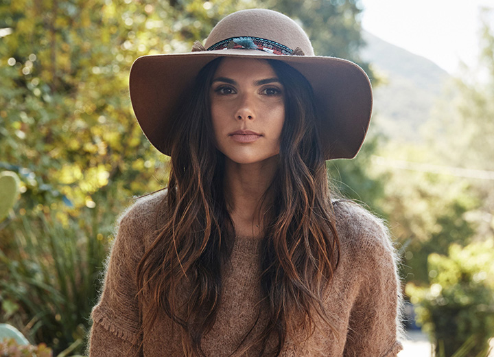 Mane Attraction: How to Wear a Hat With Long Hair - Floppy Hat