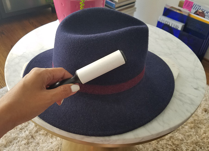 How to Clean a Felt Hat in a Few Easy Steps - Lint roller