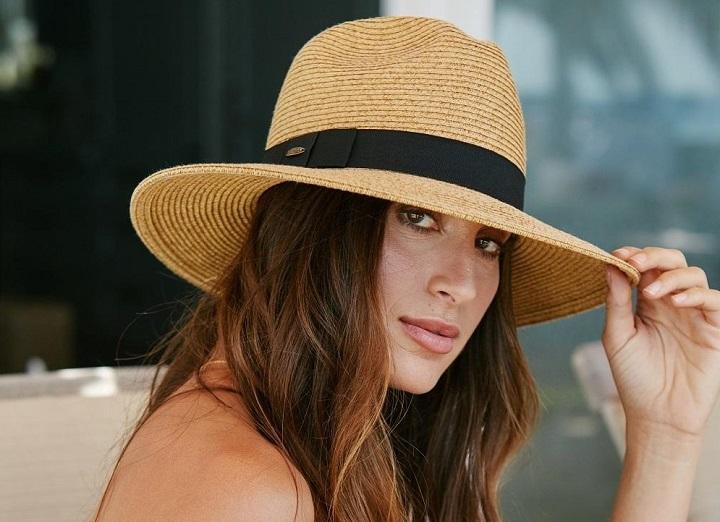 Boho chic hat raffia Women summer hats Straw hat for women Beach hat Wide brim  fedora straw hat Mens straw fedora hat Sun hat