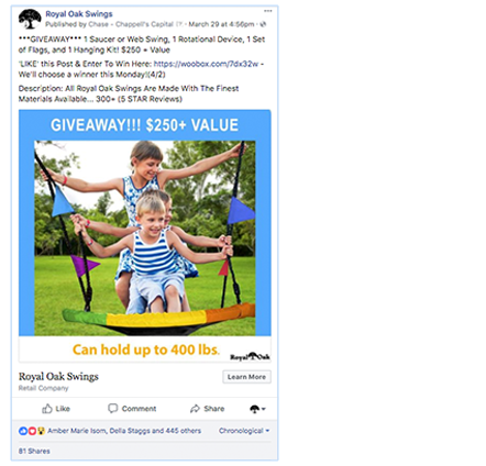 Best Facebook Giveaway Posts to generate emails, engagement and results