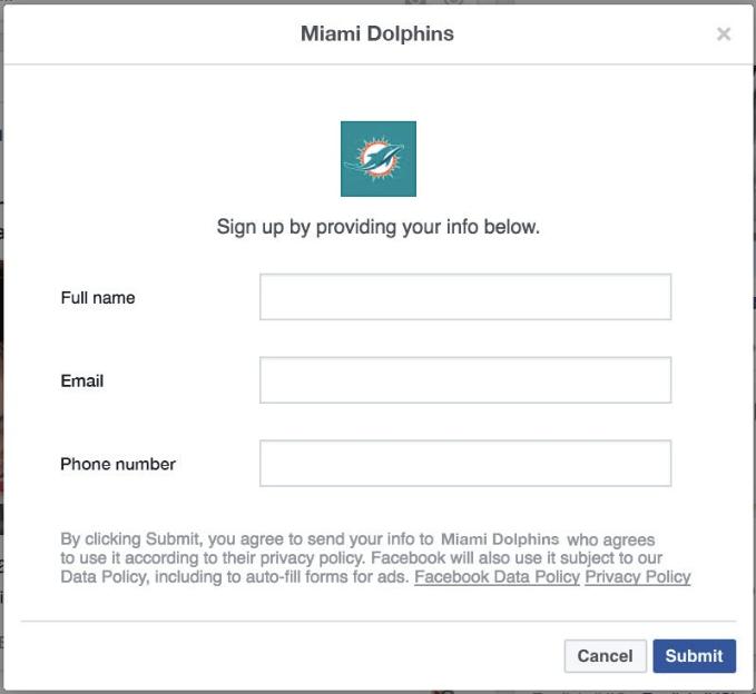 Miami dolphins lead funnel on social media