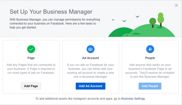 setting up your Facebook business manager ad account