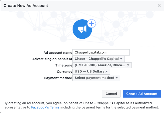 Creating an ad account to get more results
