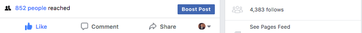 Proof of how Facebook only allows you to reach a certain amount of people