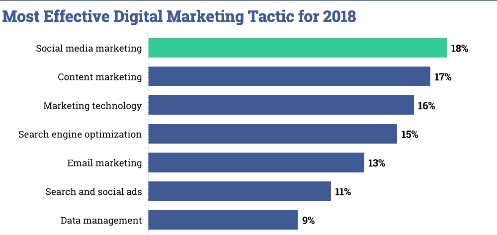 Most effective digital marketing strategies businesses are using is social media marketing
