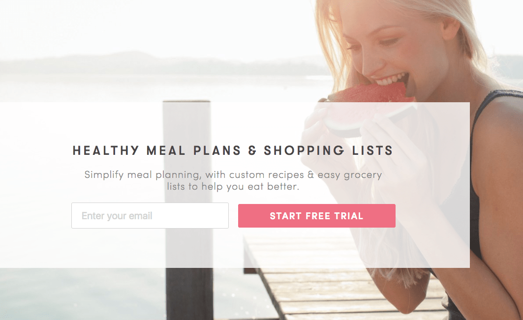 Meal Plan pop up example