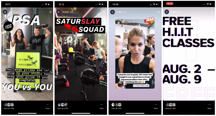 Workout Fitness Instagram Ads Example