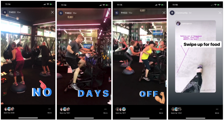 Workout and Fitness Instagram Stories