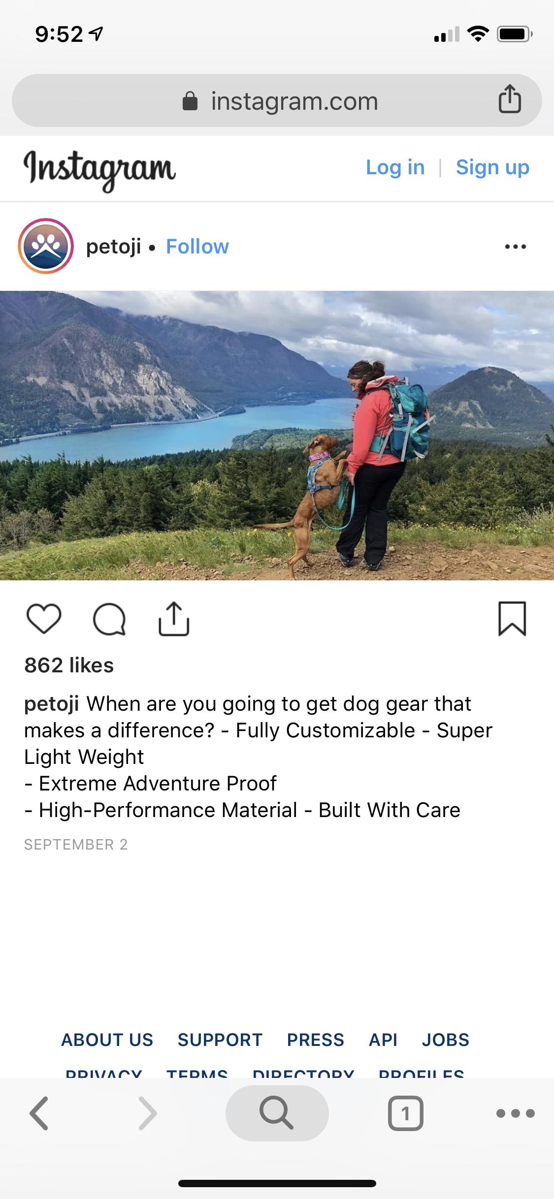 Social Media Instagram/Facebook Ad Examples