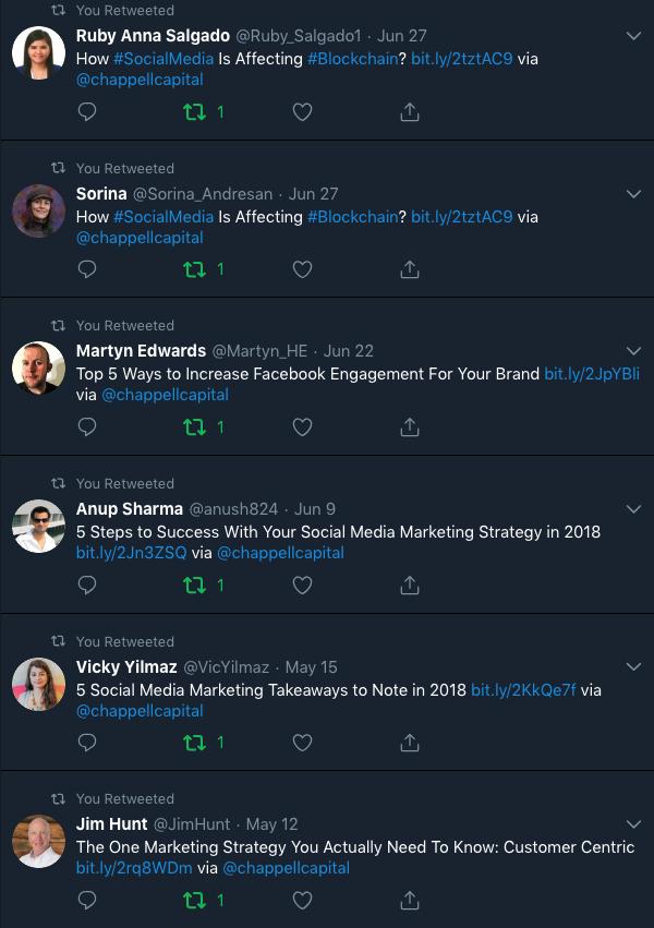How social media is affecting blockchain Twitter post