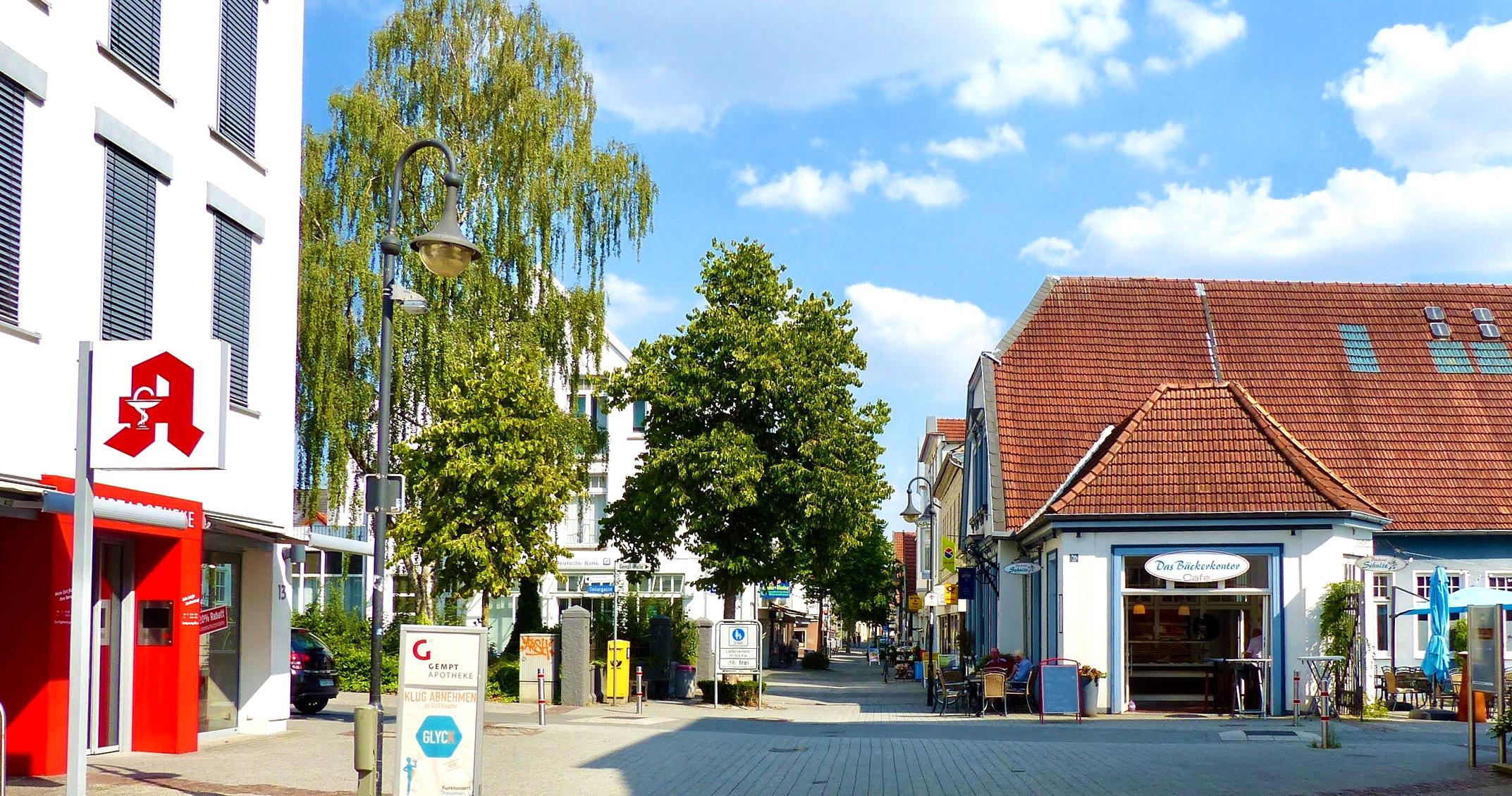 Innenstadt von Lengerich, nahe Tecklenburg in Nordrhein Westfalen