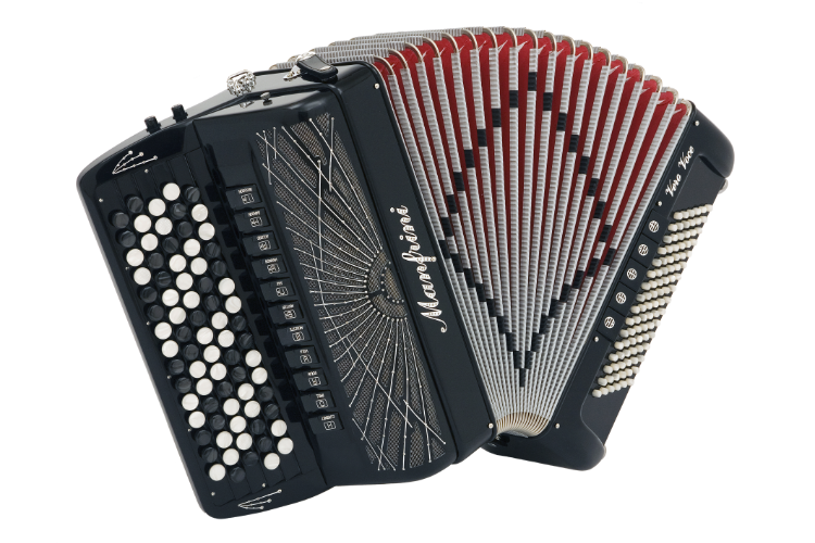 New Manfrini Artisan Chromatic Accordion For Sale.