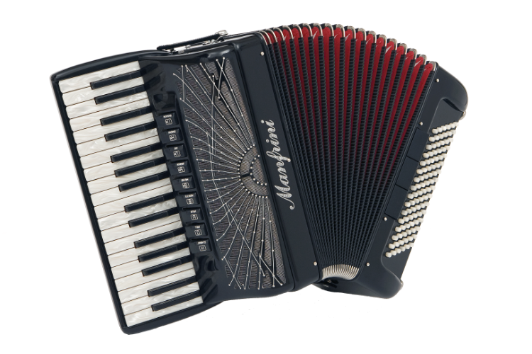 New Manfrini Artisan Piano Accordion For Sale.