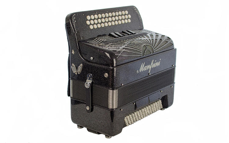 New Manfrini Artisan 3 Row Accordion For Sale.