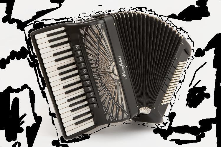 Manfrini Artisan 37/96 matt black piano accordion