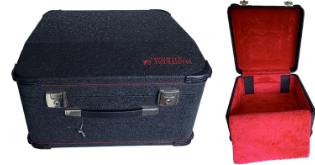 Manfrini Accordion Deluxe case constructed with plywood for strength and durability, no composites used for sale.