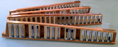 Accordion Tuning and Repairs - Completed Manfrini Accordion reed blocks.