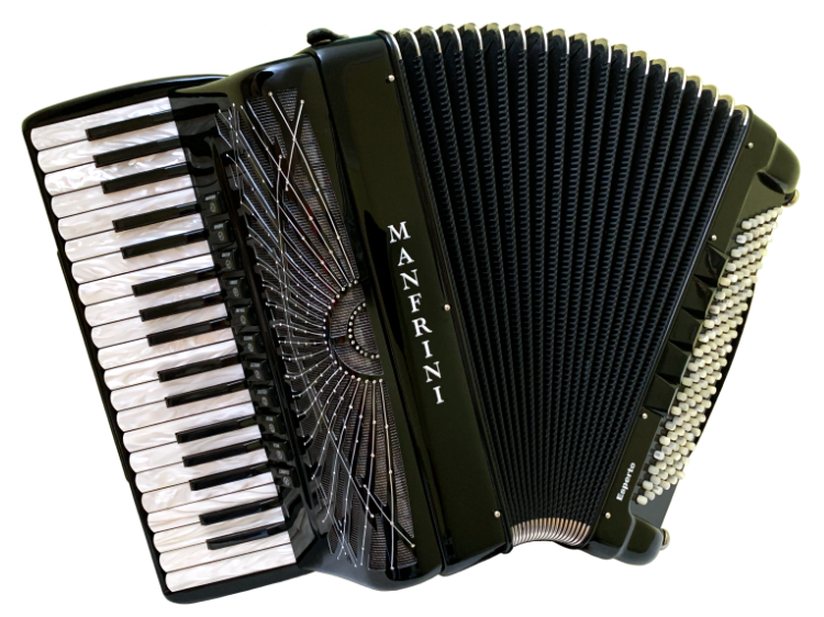 used accordion for sale Scandalli Air with new Musictech digibeat System.