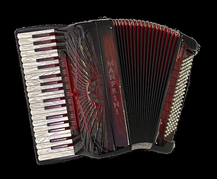 Used Manfrini Esperto S 37/120 Sunburst Finish Piano Accordion for sale.