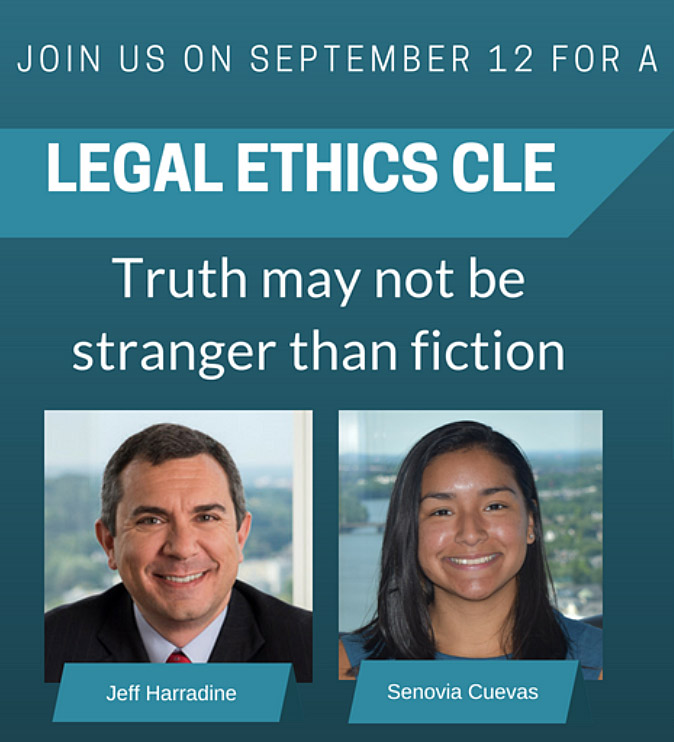 Legal Ethics CLE Advertisement