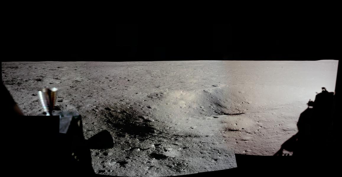 Panorama du site de débarquement Apollo 11
