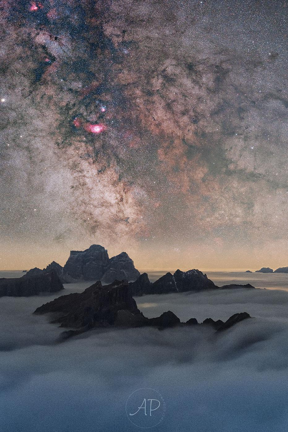 Nuages de la terre et du ciel