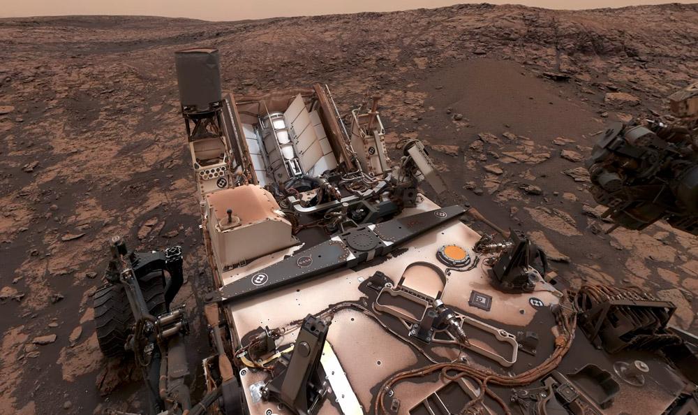 Panorama de Curiosity depuis Vera Rubin Ridge