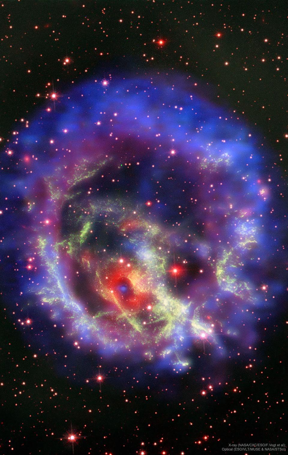 Une étoile à neutrons solitaire dans les vestiges de la supernova E0102-72.3