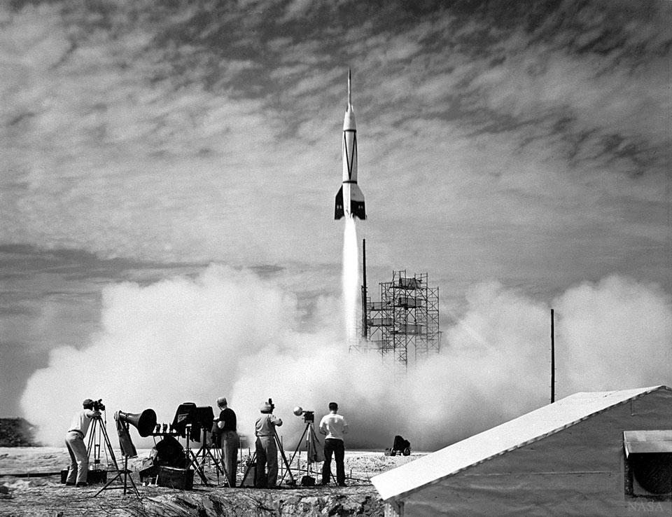 Le premier lancement de fusée depuis le cap Canaveral