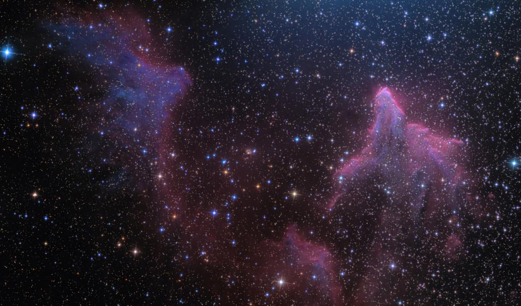 IC 59 et IC 63 dans la constellation de Cassiopée