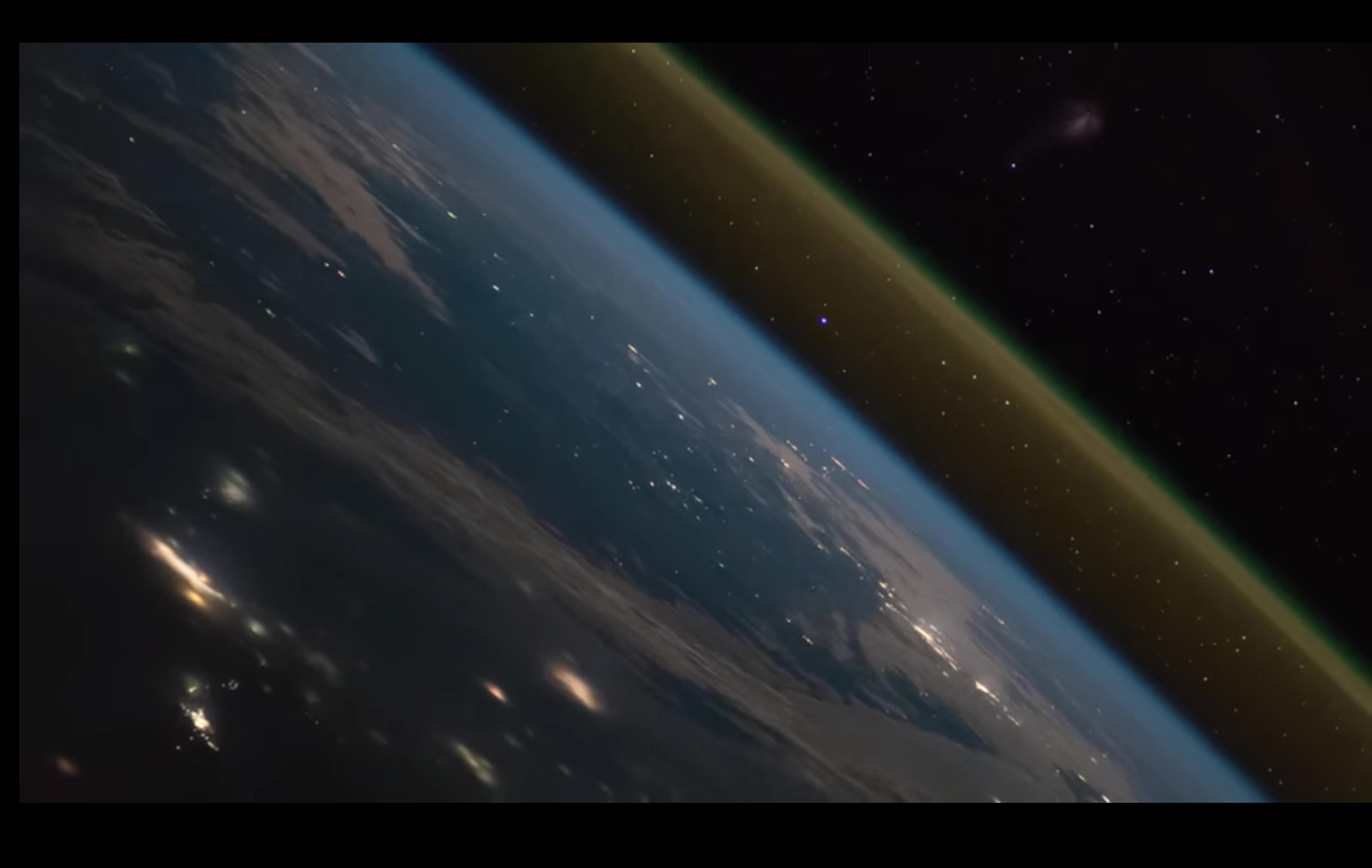 Lancement de fusée vu depuis la station spatiale internationale