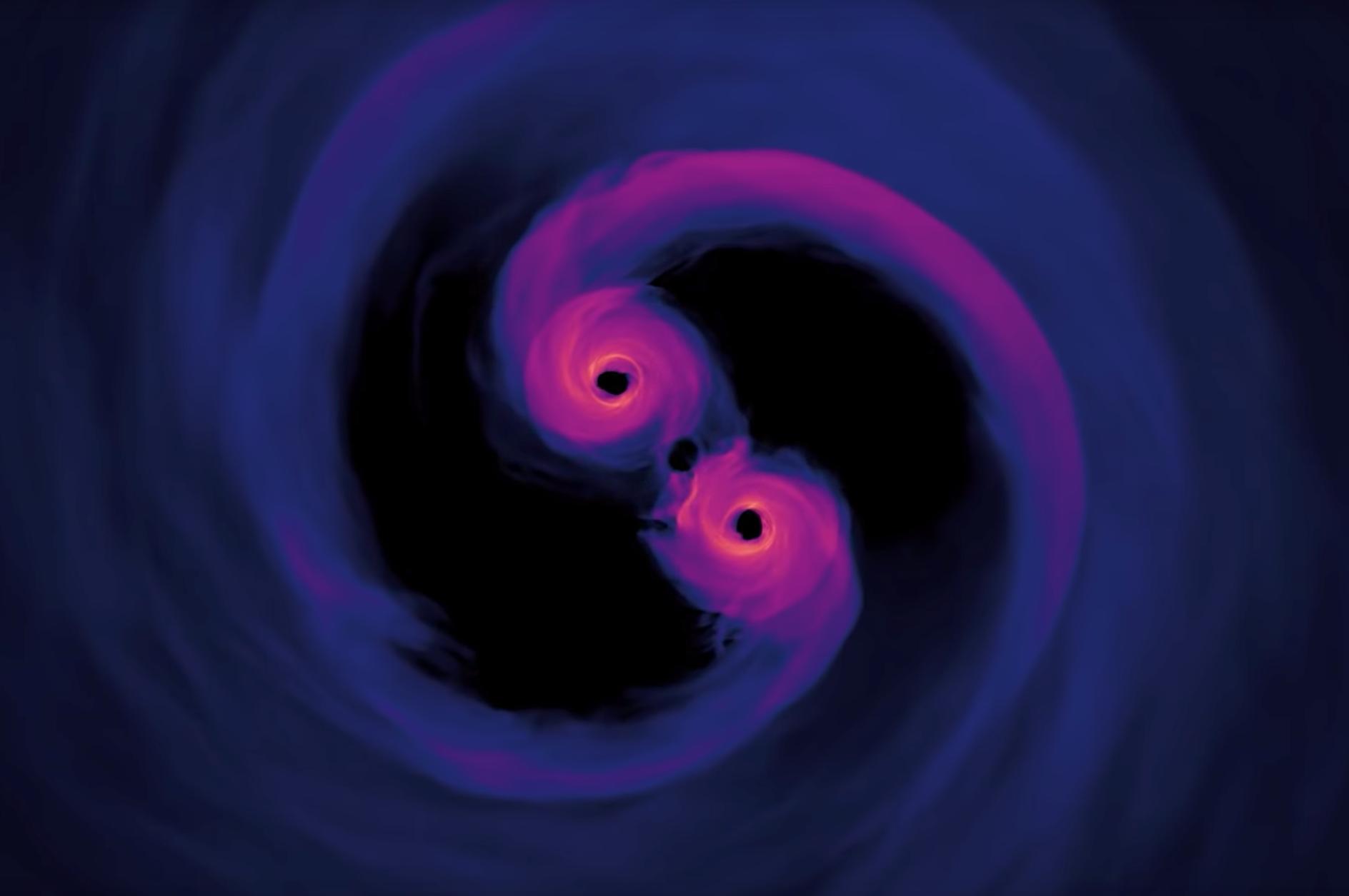 Trous noirs supermassifs en spirale