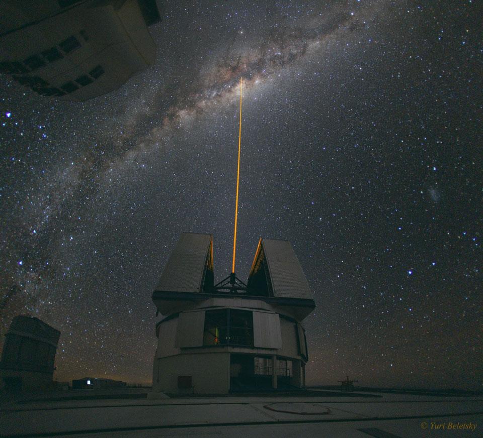 Un rayon laser au centre galactique