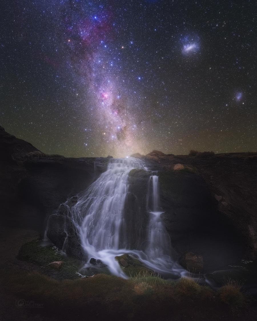 Les chutes de la Voie lactée
