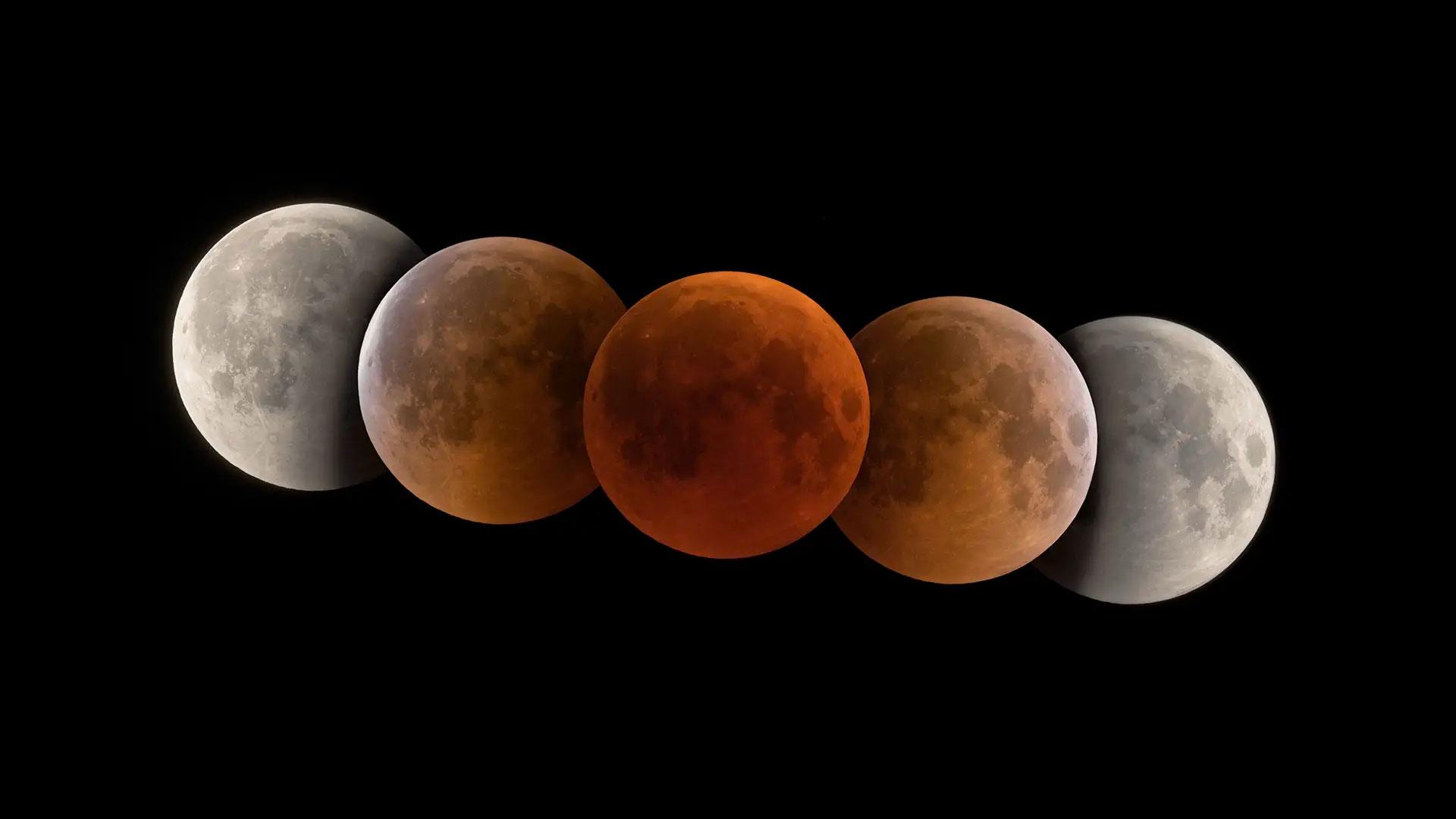 Une vidéo de l'éclipse totale de Lune