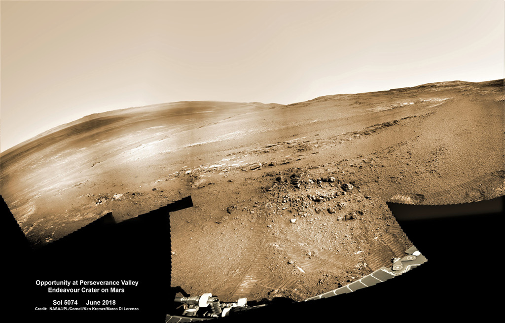 Opportunity à Perseverance Valley
