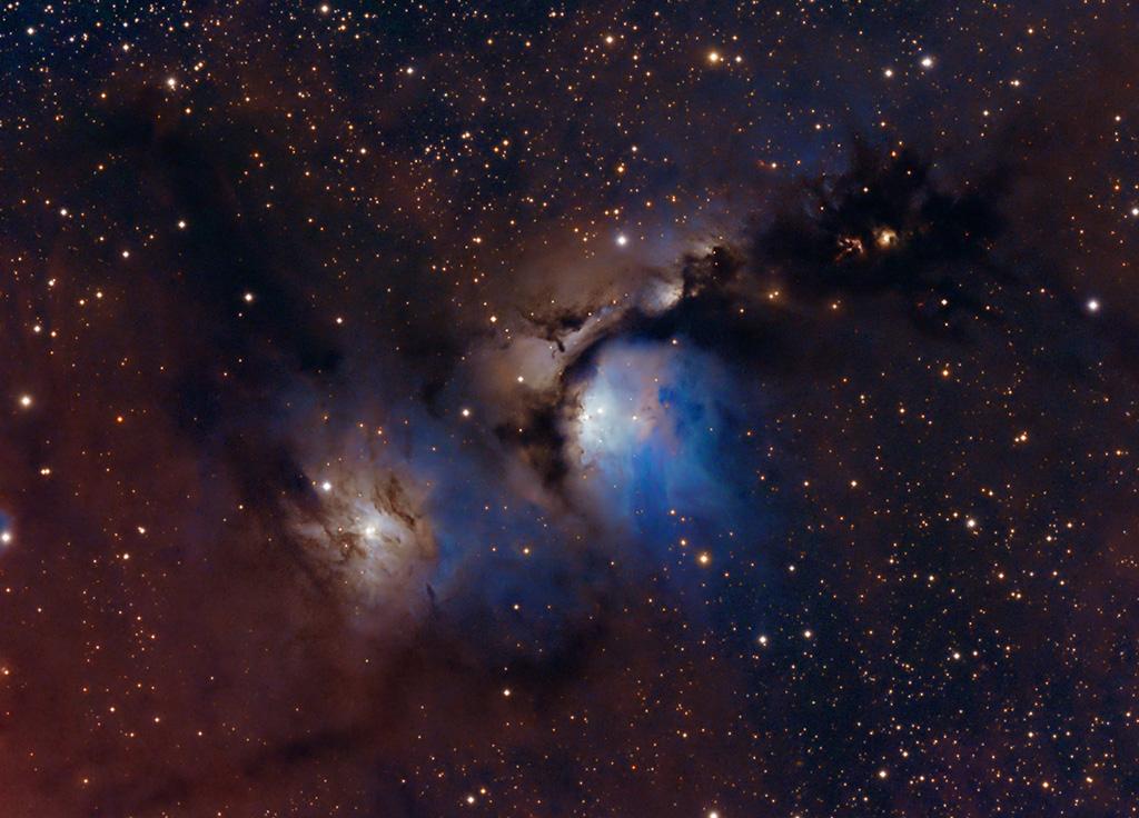 Poussière d'étoiles et lumière stellaire dans M78