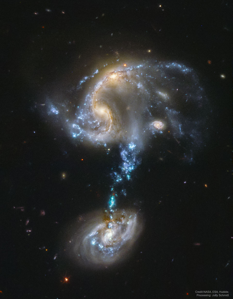Arp 194 : Groupe de galaxies en fusion