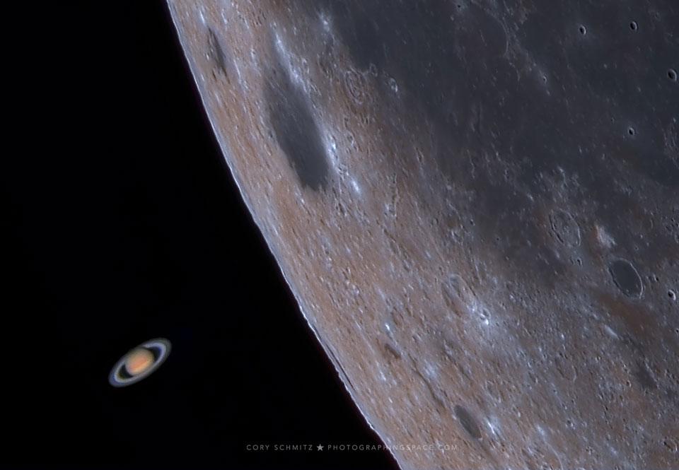 La Lune occulte Saturne