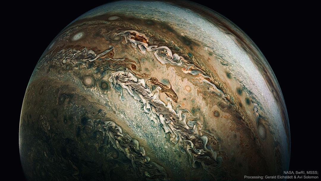 Le nuage du dauphin sur Jupiter
