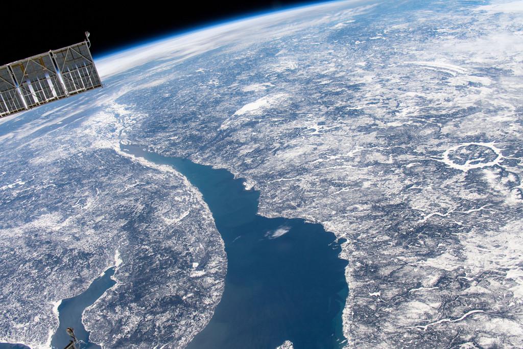 Le réservoir Manicouagan depuis l'espace