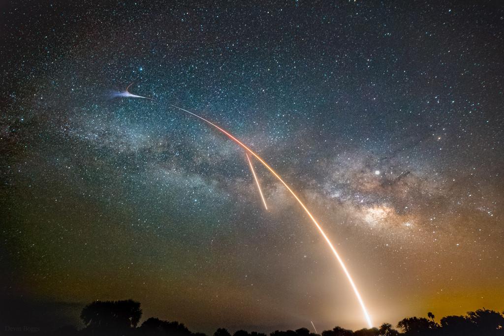 Voie lactée, lancement et atterrissage