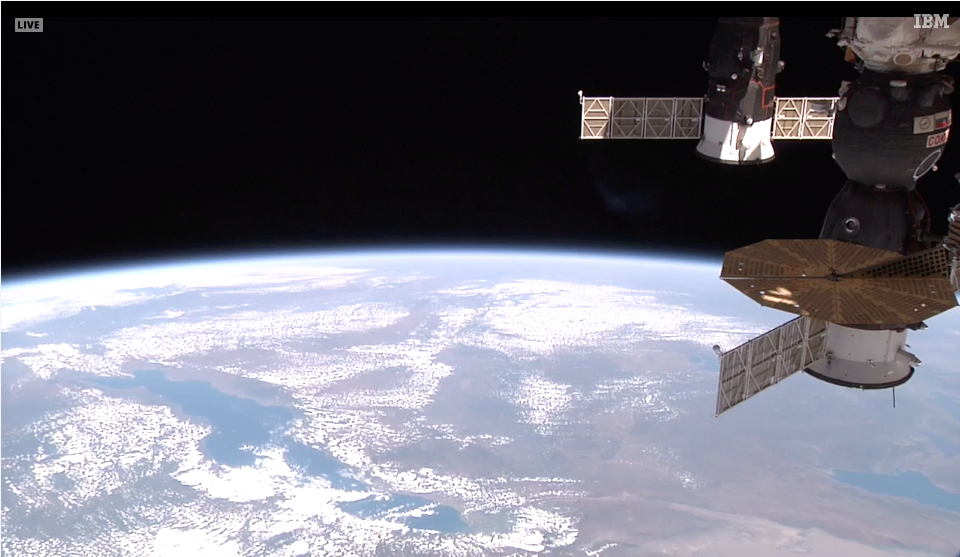 Vue en direct depuis la Station spatiale internationale
