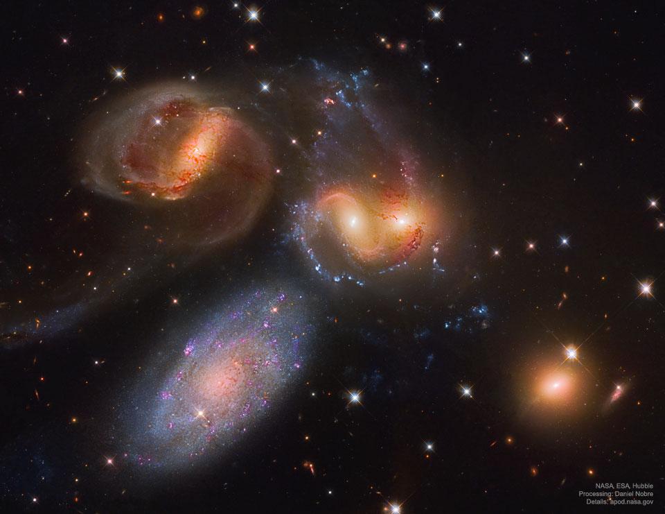 Le Quintette de Stephan depuis Hubble