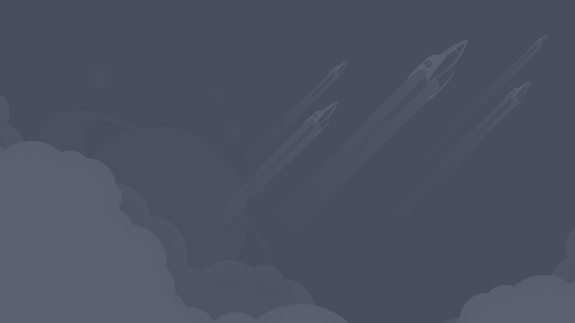 5 rockets blasting off