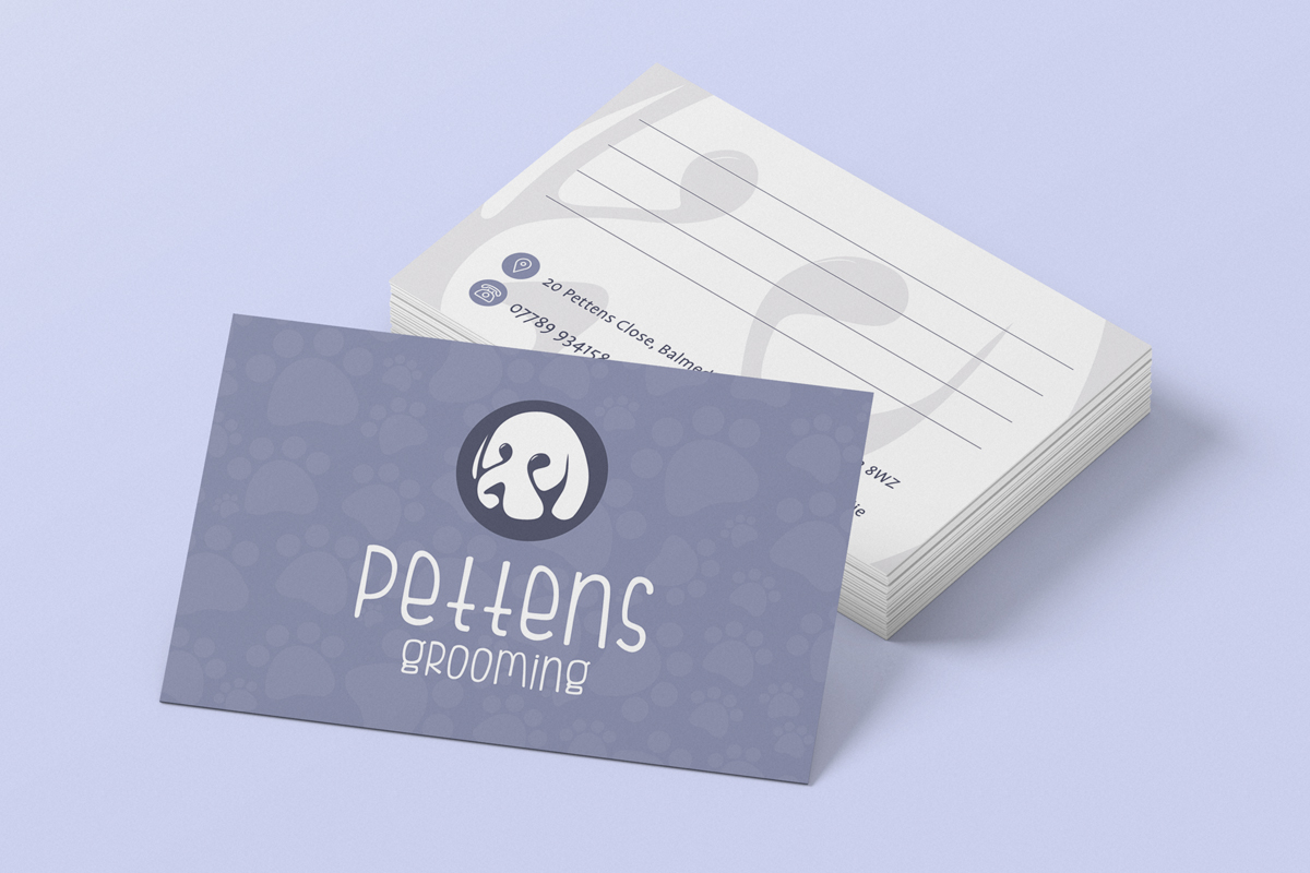 pettens grooming appointment card