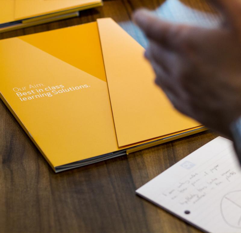 a4 folder on desk