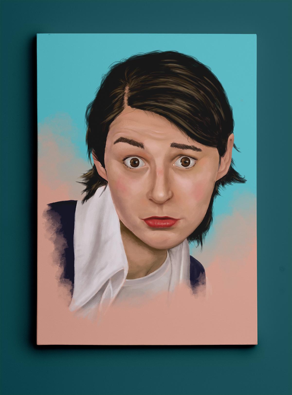 portrait of sammie surprised