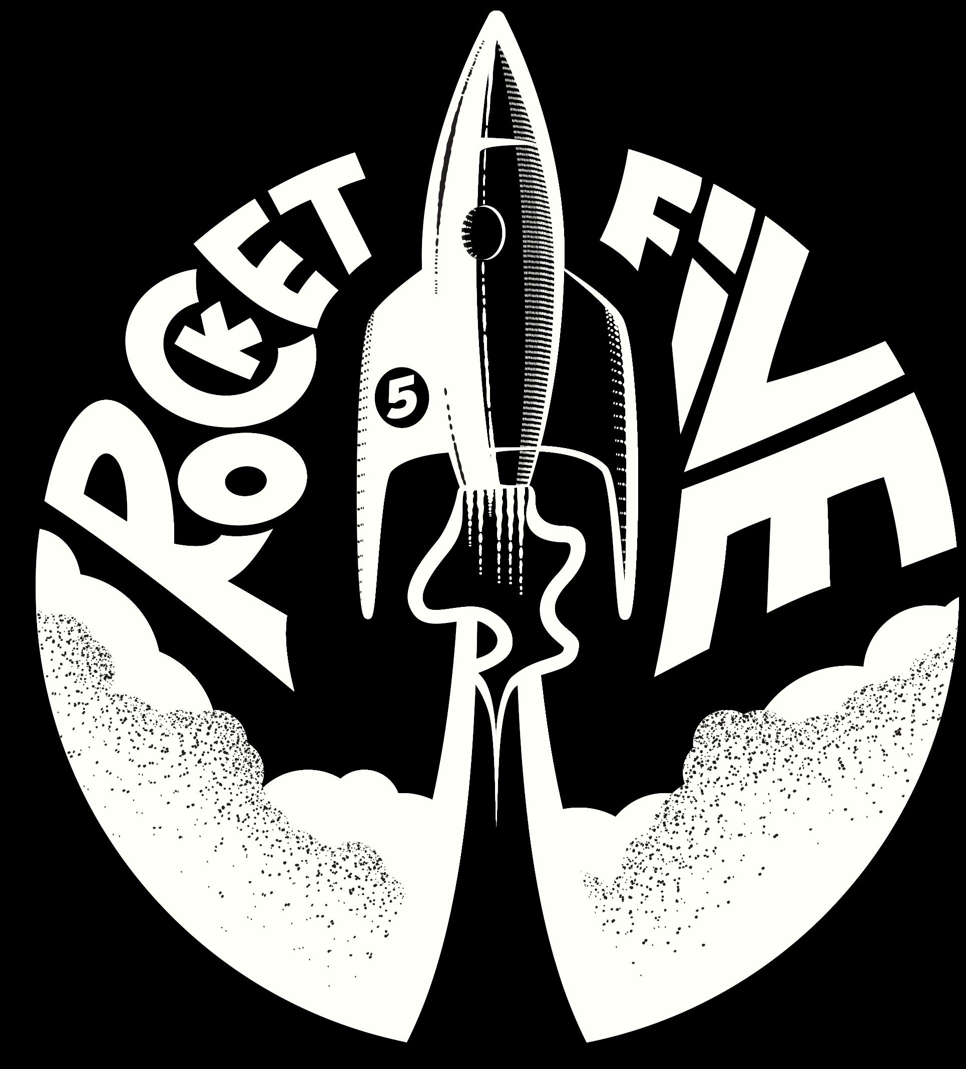 rocket five design logo