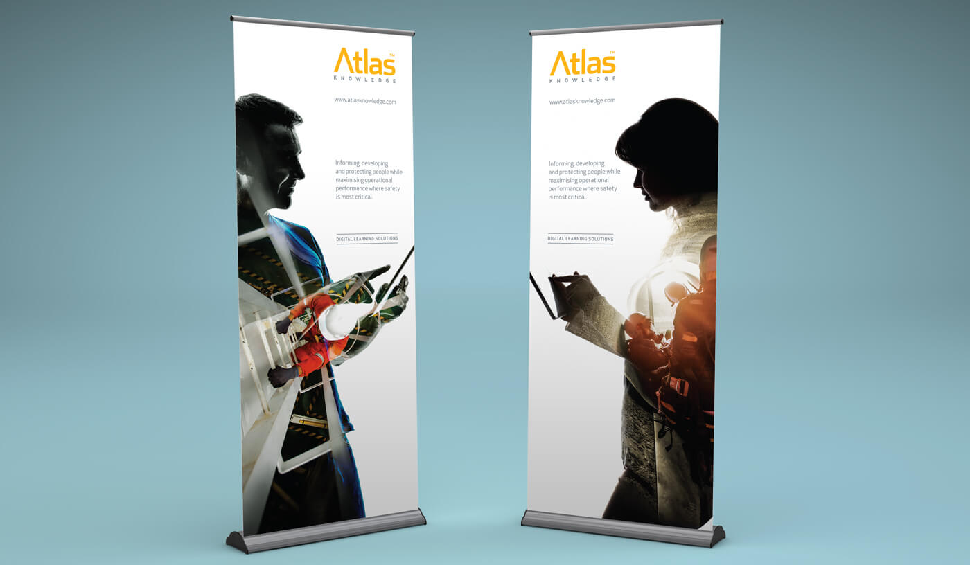 atlas pull up  banners